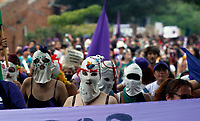 NEW YORK, NEW YORK - MARCH 8: Women take part in a protest during the International Women's Day, in Medellin, Colombia, on March 8, 2020. At least 3,500 women were killed for gender reasons in 25 countries in Latin America and the Caribbean in 2019. UN said. (Photo by Fredy Builes/VIEWpress via Getty Images)