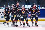 Stockholm 2014-02-24 Ishockey Hockeyallsvenskan Djurg&aring;rdens IF - S&ouml;dert&auml;lje SK :  <br /> Djurg&aring;rdens Nicklas Heiner&ouml; har gratulerats av lagkamrater efter sitt 1-0 m&aring;l<br /> (Foto: Kenta J&ouml;nsson) Nyckelord:  jubel gl&auml;dje lycka glad happy