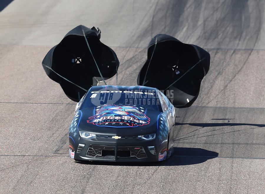 Feb 23, 2019; Chandler, AZ, USA; NHRA pro stock driver Bo Butner during qualifying for the Arizona Nationals at Wild Horse Pass Motorsports Park. Mandatory Credit: Mark J. Rebilas-USA TODAY Sports