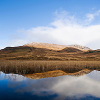 Mountain reflection in Loch Cill Chriosd, Isle of Skye, Scotland