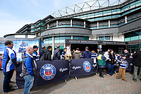 A general view of the Bath Rugby retail stand. The Clash, Aviva Premiership match, between Bath Rugby and Leicester Tigers on April 7, 2018 at Twickenham Stadium in London, England. Photo by: Matt Impey / Wired Photos for Onside Images