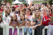 Crowds wait for the start of the White House Easter Egg Roll at the White House in Washington, D.C. on April 22, 2019. <br /> Credit: Kevin Dietsch / Pool via CNP