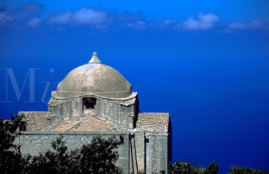 Monastary ruin in Erice, Sicily, Italy.