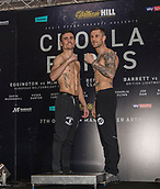 6th October 2017, Radisson Edwardian Hotel,  Manchester, England; Anthony Crolla versus Ricky Burns Weigh-in and Press Conference; Anthony Crolla and Ricky Burns after a successful weigh-in