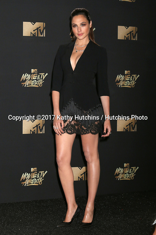 LOS ANGELES - MAY 7:  Gal Gadot at the MTV Movie and Television Awards on the Shrine Auditorium on May 7, 2017 in Los Angeles, CA