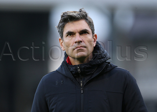 6th January 2018, Craven Cottage, London, England;  FA Cup football, 3rd round, Fulham versus Southampton; Southampton manager Mauricio Pellegrino looks on as he approaches the dugout before kick off