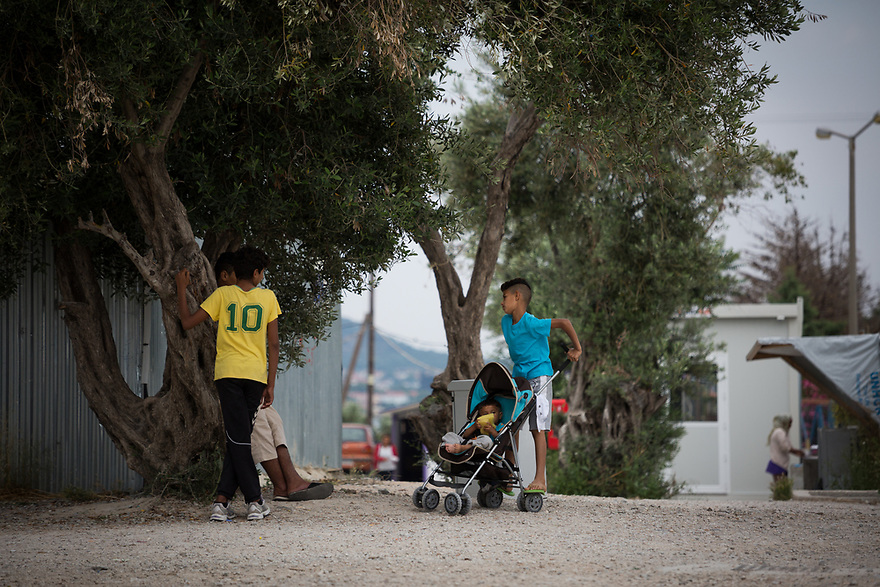 Kara Tepe Site on the Greek island of Lesvos, where hundreds of refugees are accommodated as they wait to their procedure.