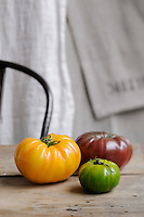 Tomatoes come in a wide variety of colour and shape and their flavour varies accordingly
