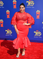 SANTA MONICA, USA. June 16, 2019: Jessica Marie Garcia at the 2019 MTV Movie & TV Awards at Barker Hangar, Santa Monica.<br /> Picture: Paul Smith/Featureflash