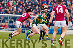 Tom O'Sullivan Kerry in action against Sean Kelly Galway in the Allianz Football League Division 1 Round 4 match between Kerry and Galway at Austin Stack Park, Tralee, Co. Kerry.