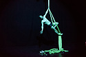 """Aerialist comedian, Aaron Twitchen, presents his show """"Curtain Twitchen"""", at C South, as part of Edinburgh Festival Fringe."""