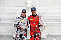 #86 Michael Shank Racing with Curb-Agajanian Acura NSX, GTD: Katherine Legge, Mario Farnbacher, podium