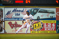 Miguel Sano (24) of the Chattanooga Lookouts runs during a game between the Jackson Generals and Chattanooga Lookouts at AT&T Field on May 7, 2015 in Chattanooga, Tennessee. (Brace Hemmelgarn/Four Seam Images)