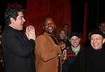 Merwin Foard, Michael James Scott and James Dybas attend the Broadway Opening Night Performance AEA Gypsy Robe Ceremony honoring Dennis Stowe for 'Aladdin' at the New Amsterdam Theatre on March 20, 2014 in New York City.