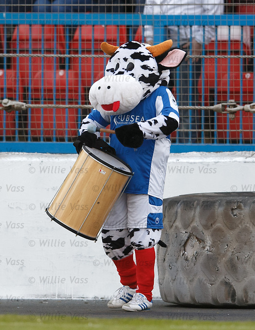 An ultra cow with a drum