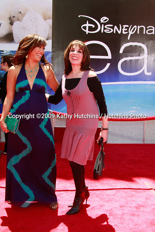"Carrie Ann Inaba & Kate Linder  at the unvieling of his new Whalescape at the ""Earth"" World Premiere.at the El Capitan Theatre.April 18, 2009 - Hollywood, California.©2009 Kathy Hutchins / Hutchins Photo....                ."