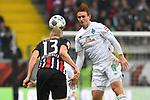 06.10.2019, Commerzbankarena, Frankfurt, GER, 1. FBL, Eintracht Frankfurt vs. SV Werder Bremen, <br /> <br /> DFL REGULATIONS PROHIBIT ANY USE OF PHOTOGRAPHS AS IMAGE SEQUENCES AND/OR QUASI-VIDEO.<br /> <br /> im Bild: Martin Hinteregger (Eintracht Frankfurt #13), Josh Sargent (SV Werder Bremen #19)<br /> <br /> Foto © nordphoto / Fabisch