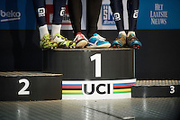 rainbow shoes<br /> <br /> Junior Men's race<br /> UCI 2016 cyclocross World Championships