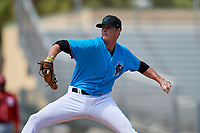 Miami Marlins pitcher Zach King during an Instructional League game against the Washington Nationals on September 25, 2019 at Roger Dean Chevrolet Stadium in Jupiter, Florida.  (Mike Janes/Four Seam Images)