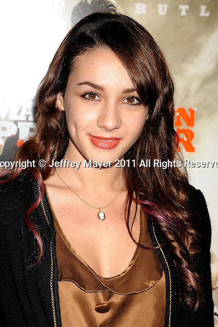 "BEVERLY HILLS, CA - SEPTEMBER 21: Hannah Marks attends the ""Machine Gun Preacher"" Los Angeles Premiere at the Academy of Television Arts & Sciences on September 21, 2011 in Beverly Hills, California."