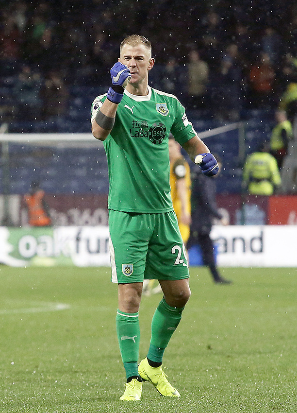 Burnley's Joe Hart pumps his fist towards the fans in celebration at the final whistle<br /> <br /> Photographer Rich Linley/CameraSport<br /> <br /> The Premier League - Burnley v Brighton and Hove Albion - Saturday 8th December 2018 - Turf Moor - Burnley<br /> <br /> World Copyright © 2018 CameraSport. All rights reserved. 43 Linden Ave. Countesthorpe. Leicester. England. LE8 5PG - Tel: +44 (0) 116 277 4147 - admin@camerasport.com - www.camerasport.com
