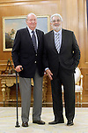 King Juan Carlos I of Spain attends in audience spanish tenor Placido Domingo. July 29,2013. (ALTERPHOTOS/Acero)