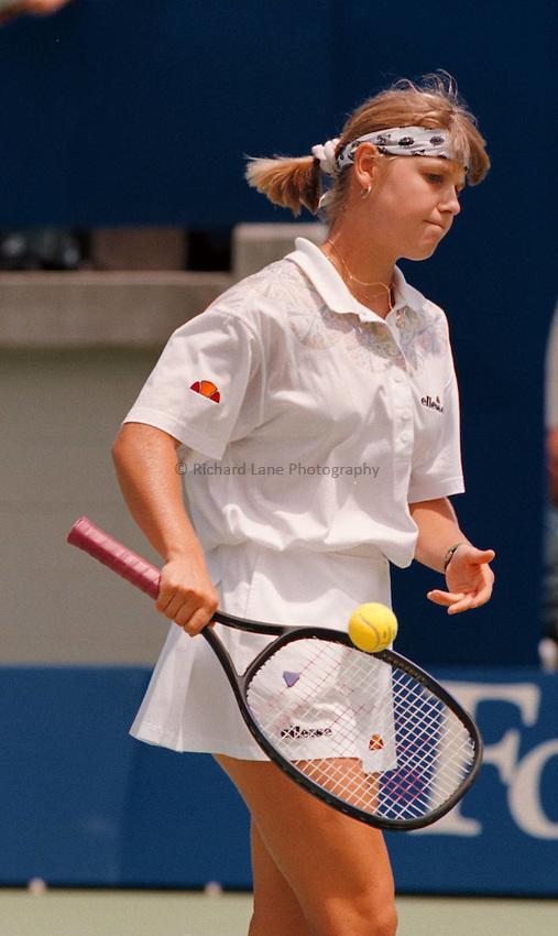 Photo. Steve Holland.Australian Open at Melbourne. 1994..Anke Huber