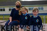 The two new Juniors who started School on Thursday 27th August at Scoil an Ghleanna, the Glen Ballinskelligs, pictured l-r; Sorcha Ní Chatháin(Teacher/Principal), Annie Dee & Dualta Ó Súilleabháin.