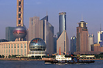 Asie, Chine, Shanghai, vue de Pudong depuis le bund, rivière Hangpu//Asia, China, Shanghai, view of Pudong from the bund, Hangpu river