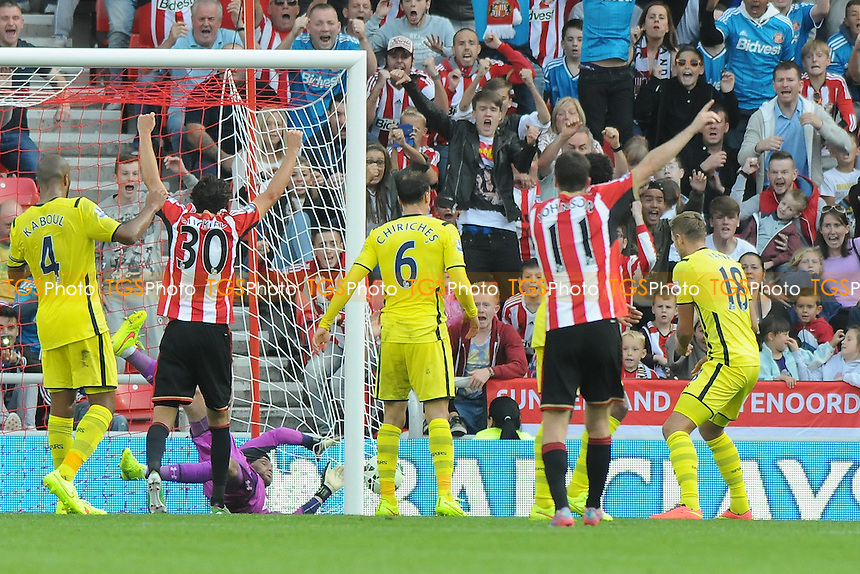 Harry Kane of Tottenham Hotspur scores an own goal to make the score 2-2 - Sunderland vs Tottenham Hotspur - Barclays Premier League Football at the Stadium of Light, Sunderland - 13/09/14 - MANDATORY CREDIT: Steven White/TGSPHOTO - Self billing applies where appropriate - contact@tgsphoto.co.uk - NO UNPAID USE