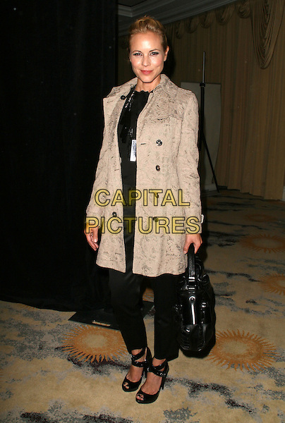 "MARIA BELLO.""IWMF"" International Women's Media Foundation Courage in Jounalism Awards held at the Beverly Hills Hotel, Beverly Hills, California, USA..October 16th, 2008.full length black shoes heels trousers bag beige coat.CAP/ADM/KB.©Kevan Brooks/AdMedia/Capital Pictures."