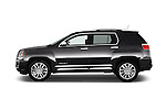Car Driver side profile view of a 2016 GMC Terrain Denali 5 Door SUV Side View