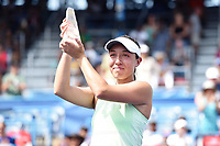 Washington, DC - August 4, 2019: Jessica Pegula (USA) poses with the Citi Open Championship trophy after defeating Camila Giorgi (ITA) in the WTA Citi Open Woman's Finals at Rock Creek Tennis Center, in Washington D.C. (Photo by Philip Peters/Media Images International)
