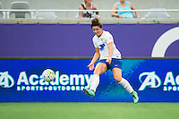 Orlando, FL - Sunday July 10, 2016: Elise Krieghoff during a regular season National Women's Soccer League (NWSL) match between the Orlando Pride and the Boston Breakers at Camping World Stadium.