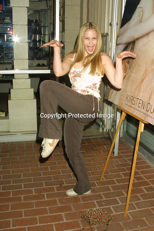 ©2003 KATHY HUTCHINS/ HUTCHINS PHOTO.COLE-HAAN PARTY KICKING OFF CASUAL SHOE LINE.AT FRED SEGAL STORE ON MELROSE.LOS ANGELES, CA  MARCH 12, 2003.MARISSA TAIT