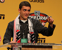 Chris Korb at the 2011 MLS Superdraft, in Baltimore, Maryland on January 13, 2010.