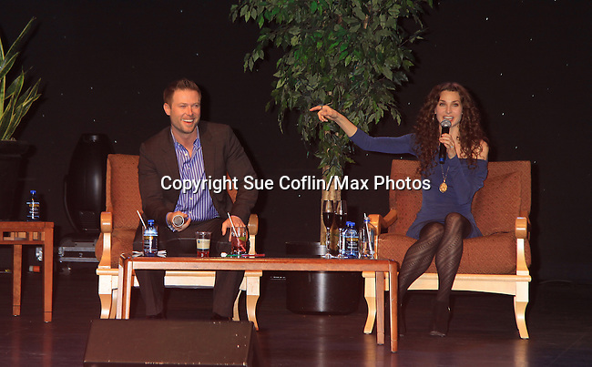 "- A Tribute to Pine Valley - All My Children's Alicia Minshew ""Kendall"" and Jacob Young ""ex JR and ""Rick Forrester"" on The Bold and the Beautiful on February 16, 2013 with fans for Q&A, autographs, photos at Foxwoods Resorts Casino in Mashantucket, CT and February 17, 2013 at Valley Forge Casino Resort in King of Prussia, PA. (Photo by Sue Coflin/Max Photos)"