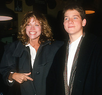 Carly Simon and son Ben<br /> 1989<br /> Photo By Michael Ferguson/CelebrityArchaeology.com<br /> <br /> http://CelebrityArchaeology.com