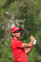 Rafa Cabrera-Bello (ESP) on the 4th during Round 1 of the Omega Dubai Desert Classic, Emirates Golf Club, Dubai,  United Arab Emirates. 24/01/2019<br /> Picture: Golffile | Thos Caffrey<br /> <br /> <br /> All photo usage must carry mandatory copyright credit (&copy; Golffile | Thos Caffrey)