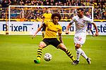 11.05.2019, Signal Iduna Park, Dortmund, GER, 1.FBL, Borussia Dortmund vs Fortuna Düsseldorf, DFL REGULATIONS PROHIBIT ANY USE OF PHOTOGRAPHS AS IMAGE SEQUENCES AND/OR QUASI-VIDEO<br /> <br /> im Bild | picture shows:<br /> Axel Witsel (Borussia Dortmund #28) im Duell mit Kevin Stoeger (Fortuna #22), <br /> <br /> Foto © nordphoto / Rauch