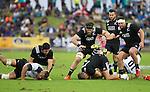 (L) Charlie Ngatai, Heiden Bedwell-Curtis, Matt Proctor, Jamison Gibson-Park, Josh Hohneck. Maori All Blacks vs. Fiji. Suva. MAB's won 27-26. July 11, 2015. Photo: Marc Weakley