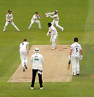 Adam Rouse of Kent catches Ollie Robinson off the bowling of Ivan Thomas who replaced the injured Grant Stewart during day 2 of the Specsavers County Championship Div 2 game between Kent and Sussex at the St Lawrence Ground, Canterbury, on May 12, 2018