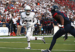 Nevada's Jerico Richardson makes a touchdown reception against Arizona defender Jamar Allah in an NCAA college football game in Reno, Nev., on Saturday, Sept. 12, 2015.(AP Photo/Cathleen Allison)