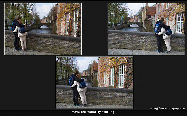 Belgium, Brugge.  Move the World by Walking.<br />