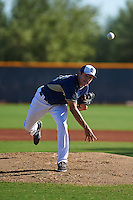 San Diego Padres pitcher Adrian DeHorta (26) during an instructional league game against the Texas Rangers on October 9, 2015 at the Surprise Stadium Training Complex in Surprise, Arizona.  (Mike Janes/Four Seam Images)