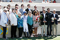 Connections of Capital Account winner of the Pat O'Brien Stakes at Del Mar Race Course in Del Mar, California on August 26, 2012.