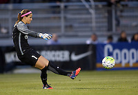 Boyds, MD - Saturday May 07, 2016: Washington Spirit goalkeeper Stephanie Labbe (1) during a regular season National Women's Soccer League (NWSL) match at Maureen Hendricks Field, Maryland SoccerPlex. Washington Spirit tied the Portland Thorns 0-0.