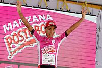 COLOMBIA. 17-08-2014. Aldemar Reyes campeón de los novatos de la Vuelta a Colombia 2014 en bicicleta que se cumple entre el 6 y el 17 de agosto de 2014. / Aldemar Reyes cyclist newbies champion of the Tour of Colombia 2014 in bike holds between 6 and 17 of August 2014. Photo:  VizzorImage/ José Miguel Palencia / Str