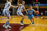 GRAND RAPIDS, MI - MARCH 18: Lauren Dillon (11) of Tufts University drives in for a shot during the Division III Women's Basketball Championship held at Van Noord Arena on March 18, 2017 in Grand Rapids, Michigan. Amherst College defeated Tufts University 52-29 for the national title. (Photo by Brady Kenniston/NCAA Photos via Getty Images)