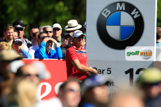 Brooks KOEPKA (USA) during round 1 of the 2015 BMW PGA Championship over the West Course at Wentworth, Virgina Water, London. 21/05/2015<br /> Picture Fran Caffrey, www.golffile.ie: